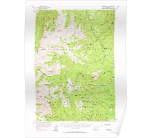 USGS Topo Map Oregon Cornucopia 282362 1954 62500 Poster