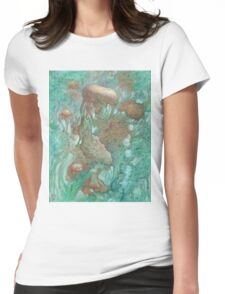 Blue Alternator, primordial abstraction 2  Womens Fitted T-Shirt
