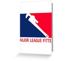 Major League Fitter Greeting Card