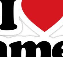 I Love Heart Camels Sticker Sticker