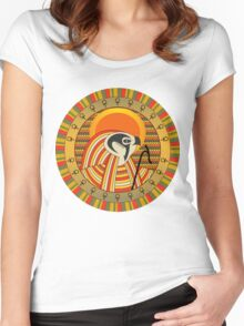 Egyptian god of sun Ra Women's Fitted Scoop T-Shirt