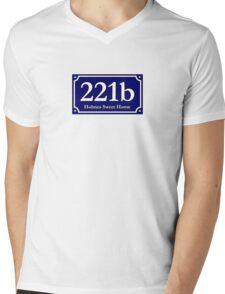 221b - Holmes Sweet Home Mens V-Neck T-Shirt