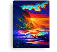 Napali Coast Sunset Canvas Print