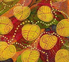 yellow leaves by Kim  Magee