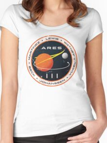 ARES 3 Mission Patch - The Martian Women's Fitted Scoop T-Shirt