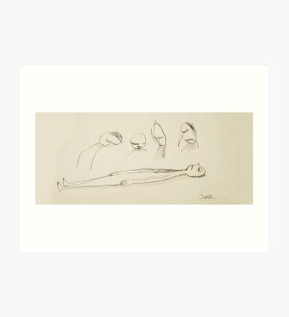 deaths scribble Art Print