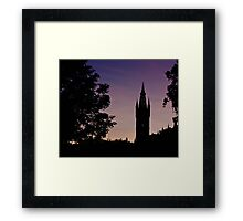 Spire in the Gloaming Framed Print