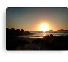 Whiskey Bay Sundown Canvas Print