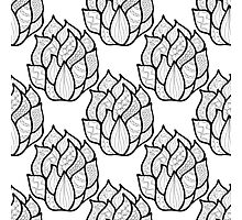 Abstract hand-drawn pattern with waves Photographic Print
