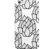 Abstract hand-drawn pattern with waves iPhone Case/Skin
