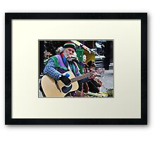 Dan the Busker, Ireland. Framed Print