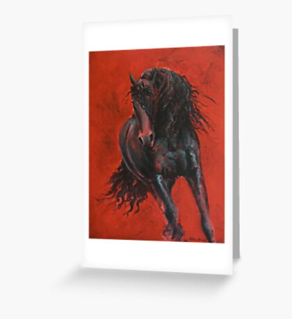 """Friesian - """"The Wizzard"""" Greeting Card"""