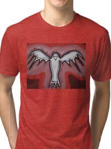 Spirit Crow original painting Tri-blend T-Shirt