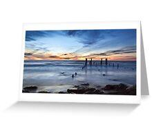 Old Port Willunga Jetty Greeting Card
