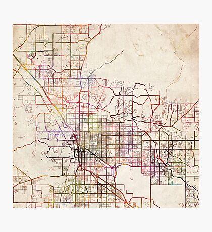 Tucson map Photographic Print
