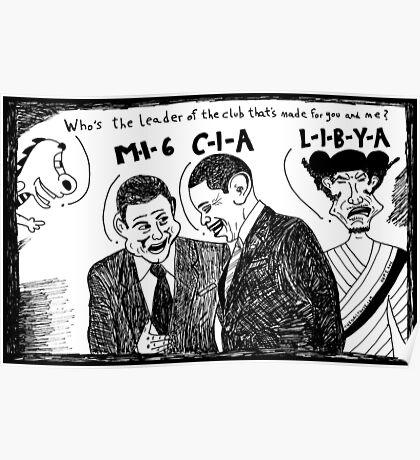 MI6 CIA LIBYA Poster
