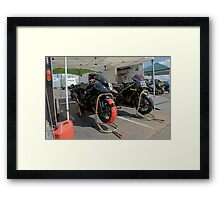Tom Shaw MCRA #359 at Heartland Park Topeka Framed Print