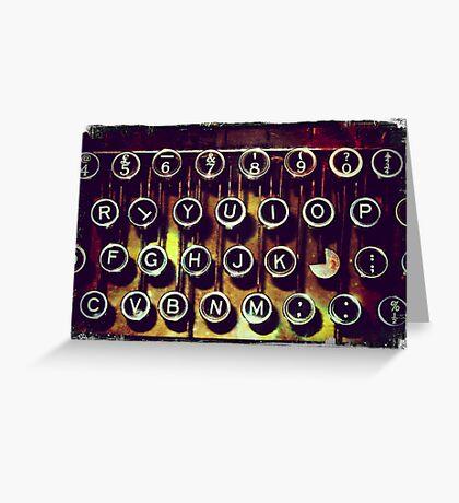 Enigma - Typewriter I Greeting Card