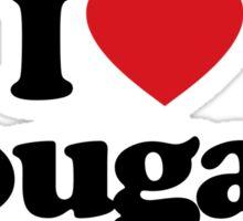 I Love Heart Cougars Sticker Sticker