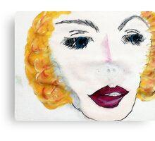 Blonde Beauty, watercolor Canvas Print