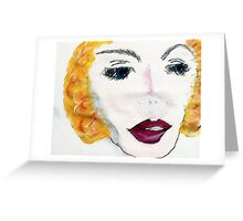 Blonde Beauty, watercolor Greeting Card