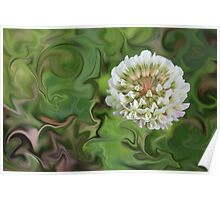 Weed With Swirly Background Poster