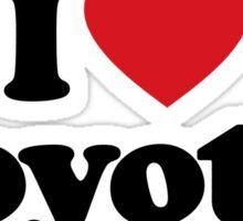 I Love Heart Coyotes Sticker Sticker