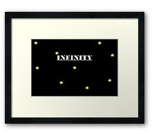 INFINTY ONE DIRECTION Framed Print