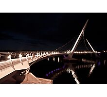 Peace Bridge over river Foyle, Derry Photographic Print