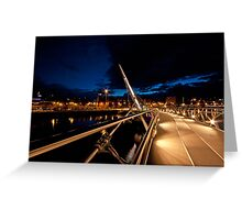 Peace Bridge over river Foyle, Derry Greeting Card
