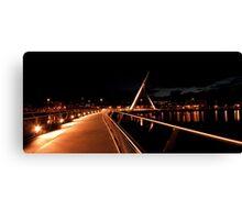 Peace Bridge, River Foyle, Derry Canvas Print