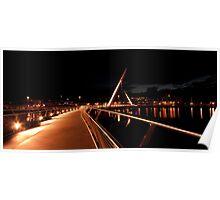 Peace Bridge, River Foyle, Derry Poster