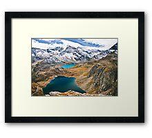 Laghi Agnel e Serru` ~ Nivolet Framed Print