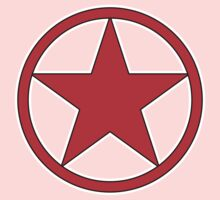 RED STAR, CIRCLE, BADGE, Stardom, Power to the people! Red Dwarf, Stellar, Cosmic Kids Clothes
