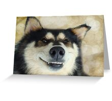 I'm such a goofy dog! Greeting Card