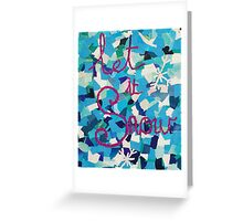 Winter Christmas Collage Greeting Card