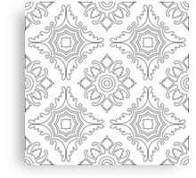 Portuguese tiles seamless pattern. Vintage background - Victorian ceramic tile. Seamless pattern tile design.  Canvas Print