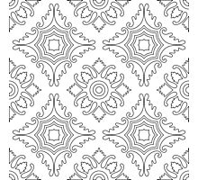 Portuguese tiles seamless pattern. Vintage background - Victorian ceramic tile. Seamless pattern tile design.  Photographic Print