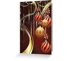 Decorative Gold Xmas Balls 4 Greeting Card