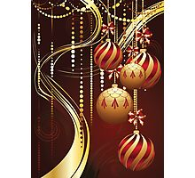 Decorative Gold Xmas Balls 4 Photographic Print