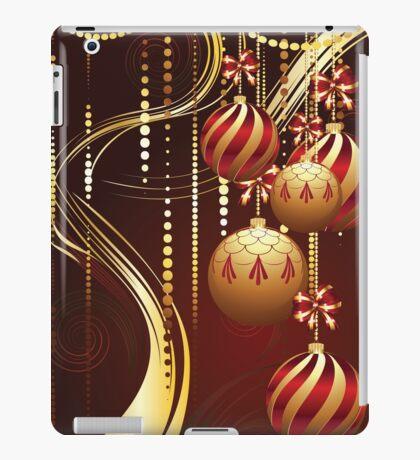 Decorative Gold Xmas Balls 4 iPad Case/Skin