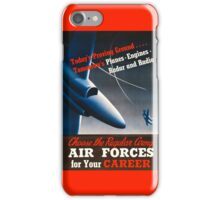 Army Air Force Recruiting Enlistment Poster ~ Vintage Jet Fighter ~ 0515 iPhone Case/Skin