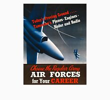 Army Air Force Recruiting Enlistment Poster ~ Vintage Jet Fighter ~ 0515 Unisex T-Shirt