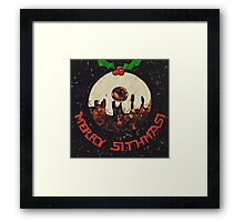 Christmas Star Wars Collage Humour Framed Print