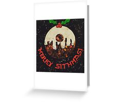 Christmas Star Wars Collage Humour Greeting Card