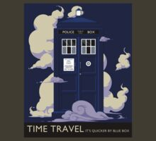 TIME TRAVEL -It's Quicker by Blue Box - tee