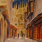 Winter evening Canterbury by Beatrice Cloake