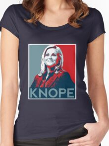 Knope Poster - white lower layer Women's Fitted Scoop T-Shirt