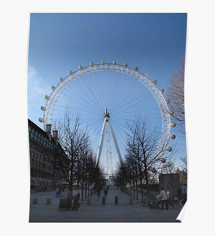 London's Big Wheel Poster