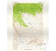 USGS Topo Map Oregon Halfway 282548 1957 62500 Poster